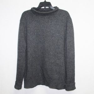 J.Crew lambs wool gray rollneck knit sweater